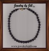 Jewelry by Jill Roselli Faceted Black Onyx Necklace